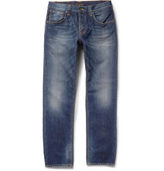 Nudie Jeans Steady Eddie Regular-Fit Washed-Denim Jeans