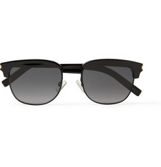 Saint Laurent Square-Frame Metal and Acetate Sunglasses
