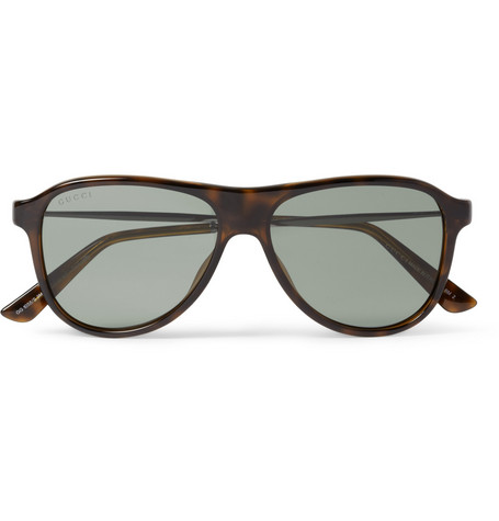 Gucci Acetate and Metal Aviator Sunglasses