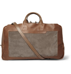 Bill Amberg Everest Leather and Suede Holdall Bag