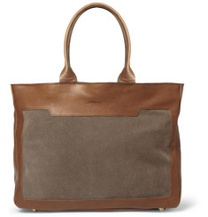 Bill Amberg Raleigh Leather and Suede Tote Bag