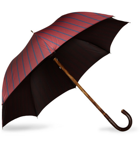 Francesco Maglia Lord Chestnut Wood Handle Umbrella