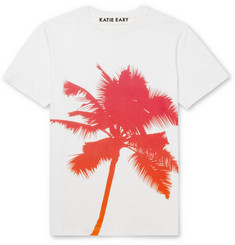 Katie Eary Palm-Print Cotton-Jersey T-Shirt