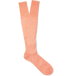 Bresciani Knee-Length Fine Cotton Socks