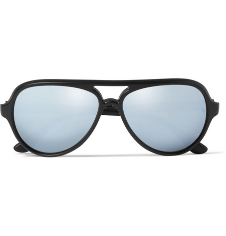Ray-Ban Mirrored Acetate Aviator Sunglasses