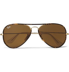 Ray-Ban Tortoisehell Aviator Sunglasses