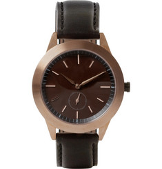 Uniform Wares 351 Series PVD Rose Gold Wristwatch
