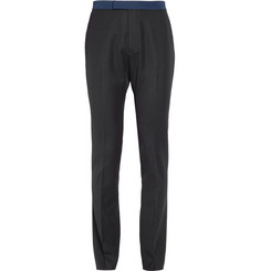 Raf Simons Contrast-Trim Wool Trousers