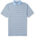 Peter Millar Henley Striped Jersey Golf Polo Shirt