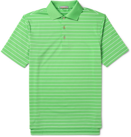 Peter Millar Quarter Striped Jersey Golf Polo Shirt