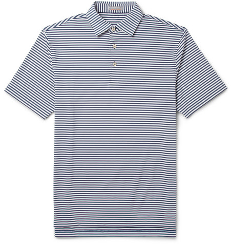 Peter Millar Competition Striped Jersey Golf Polo Shirt