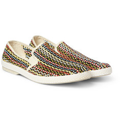 Rivieras Woven Slip-On Shoes