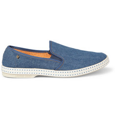 Rivieras Rubber-Soled Denim Slip-On Shoes
