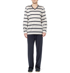 Hanro Miguel Mercerised Cotton-Jersey Pyjama Set