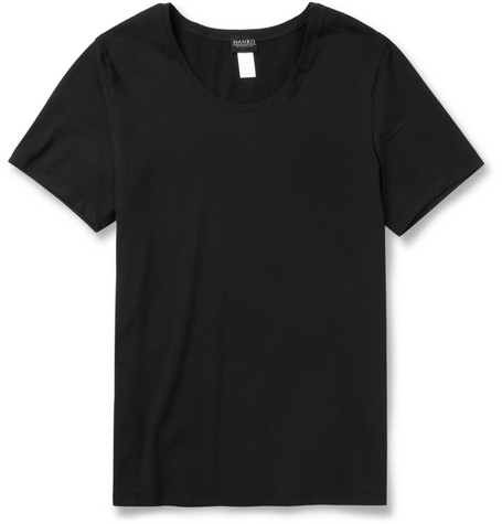 Hanro Cotton-Blend Crew Neck T-Shirt