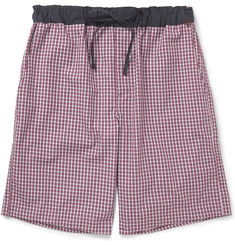 Hanro Cardinal Plaid Cotton Lounge Shorts