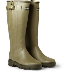 Le Chameau Chasseur Leather-Lined Wellington Boots