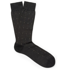 Pantherella Patterned Cotton-Blend Socks