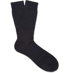 Pantherella Spotted Cotton-Blend Socks