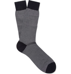 Pantherella Striped Cotton-Blend Socks