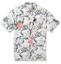 Hentsch Man Printed Cotton Short-Sleeved Shirt