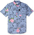 Hentsch Man - Printed Cotton Short-Sleeved Shirt
