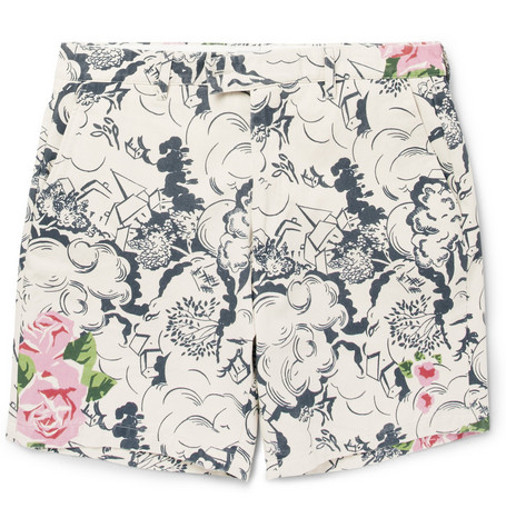 Hentsch Man Regular-Fit Printed Cotton-Canvas Shorts