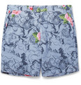 Hentsch Man - Regular-Fit Printed Cotton-Canvas Shorts
