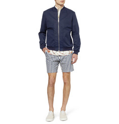 Hentsch Man Regular-Fit Striped Cotton-Canvas Shorts