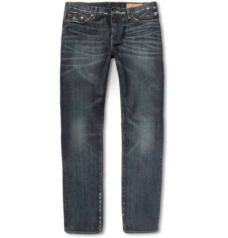 Jean Shop Washed Selvedge Denim Jeans