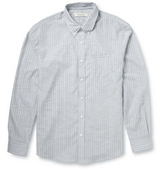 Raleigh Denim Striped Cotton-Chambray Shirt