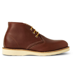 Red Wing Shoes Work Chukka Rubber-Soled Leather Boots