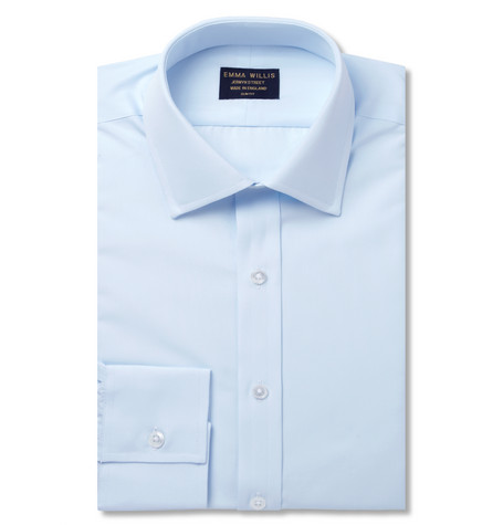 Blue Cotton Shirt - Blue