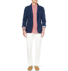 Ovadia & Sons Regular-Fit Cotton and Linen-Blend Trousers
