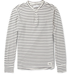 Ovadia & Sons Striped Cotton-Jersey Henley T-Shirt