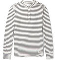 Ovadia & Sons - Striped Cotton-Jersey Henley T-Shirt
