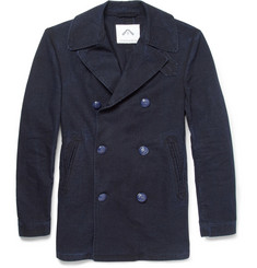 Ovadia & Sons Slim-Fit Lightweight Cotton-Blend Peacoat