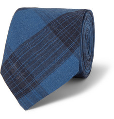 Ovadia & Sons Plaid Linen Tie