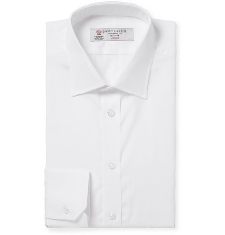 Turnbull & Asser White Cotton Shirt
