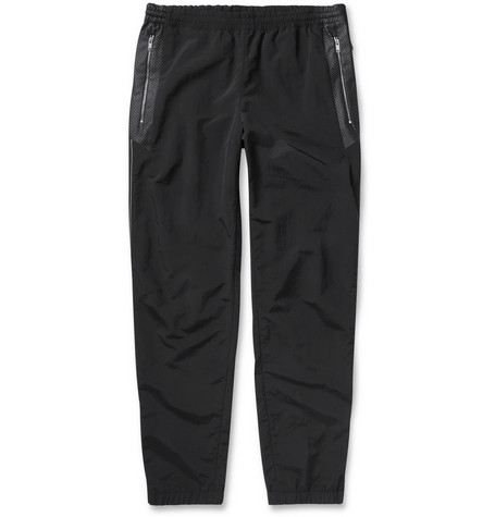 Tim Coppens Slim-Fit Leather-Trimmed Trackpants