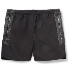 Tim Coppens Leather-Panelled Shorts