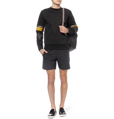 Tim Coppens Leather-Trimmed Cotton-Blend Sweatshirt