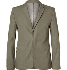 Tim Coppens Slim-Fit Textured Cotton-Blend Blazer