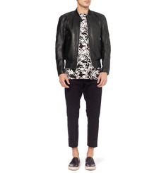 Tim Coppens Slim-Fit Leather Biker Jacket