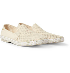 Rivieras Cotton Mesh Slip-On Shoes
