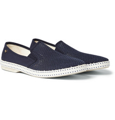 Rivieras - Cotton-Mesh and Canvas Espadrilles