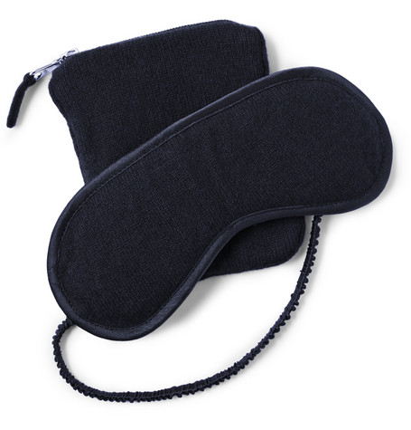 Armand Diradourian Cashmere Eye Mask and Pouch