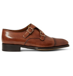 John Lobb Phillip II Leather Monk-Strap Shoes