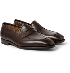 John Lobb Ashley Leather Penny Loafers
