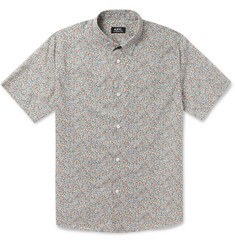 A.P.C. Floral-Print Cotton Shirt